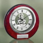 Circle Clock with Exposed Gears in Chrome Circle Awards