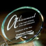 Mosaic Oval Corporate Acrylic Awards