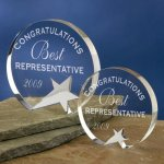 Freestanding Crystal Crystal Glass Awards