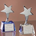 Small Stars with Crystal Bases Crystal Glass Awards