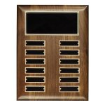 Walnut Perpetual Plaque Employee Awards