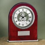 Arch Clock with Exposed Gears in Chrome Mantle Clocks