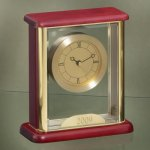 Glass Box Clock Secretary Gift Awards