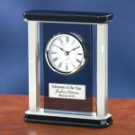 Smoke Glass with Chrome Metal Wood Metal Accent Awards
