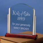 Lift-Out Glass Wood Metal Accent Awards